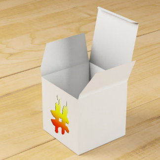 #HASHTAG - Hash Tag Symbol on Fire Favor Boxes