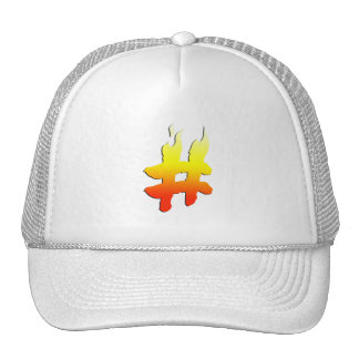 #HASHTAG - Hash Tag Symbol on Fire Hat