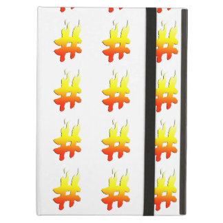 #HASHTAG - Hash Tag Symbol on Fire iPad Covers