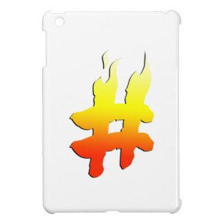 #HASHTAG - Hash Tag Symbol on Fire iPad Mini Case