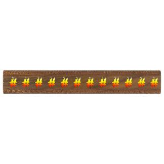 #HASHTAG - Hash Tag Symbol on Fire Walnut Ruler