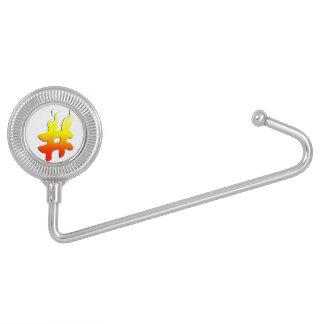 #HASHTAG - Hash Tag Symbol on Fire Purse Hooks
