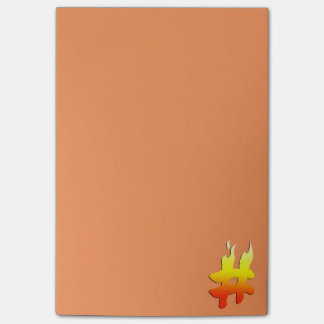 #HASHTAG - Hash Tag Symbol on Fire Post-it® Notes