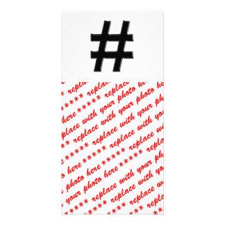 #HASHTAG - Hash Tag Symbol Photo Greeting Card