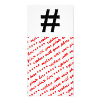 #HASHTAG - Hash Tag Symbol Photo Greeting Card