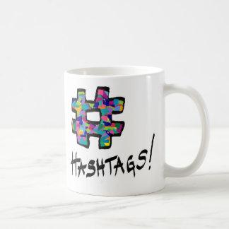 hashtag, hashtag coffee mug