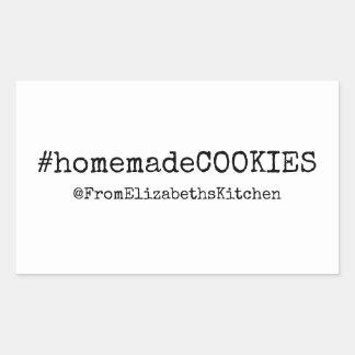 HashTag #homemadeCookies Rectangular Sticker