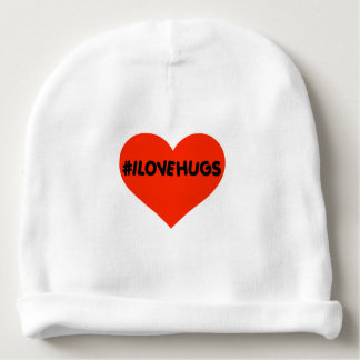 Hashtag I Love Hugs Cute Baby Infant Heart Baby Beanie