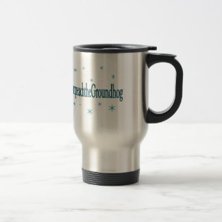 Hashtag Impeach the Groundhog Humourous Travel Mug