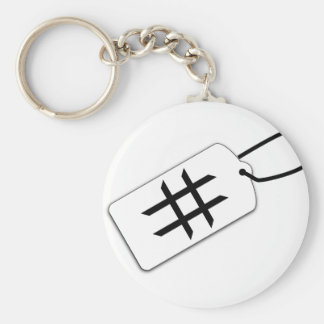 Hashtag Key Ring