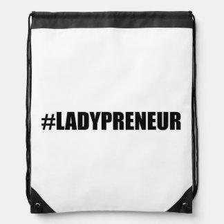 Hashtag Lady Entrepreneur Drawstring Bag