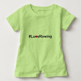 Hashtag Love Rowing slogan Baby Bodysuit