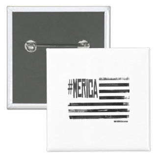 Hashtag 'Merica Flag 15 Cm Square Badge