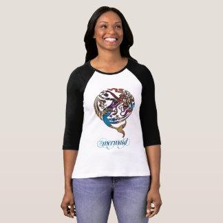 Hashtag Mermaid 3/4 Sleeve Raglan T-Shirt