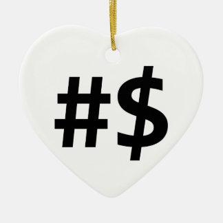 hashtag money ceramic ornament
