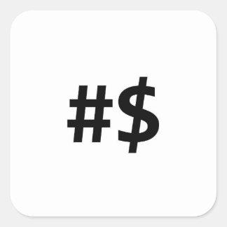 hashtag money square sticker