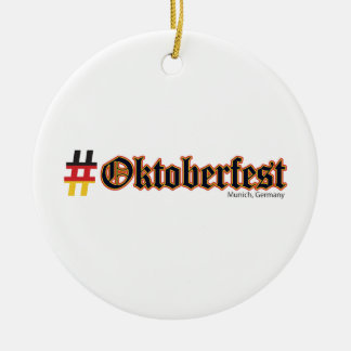 Hashtag Oktoberfest Ceramic Ornament