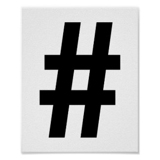 Hashtag Poster Print