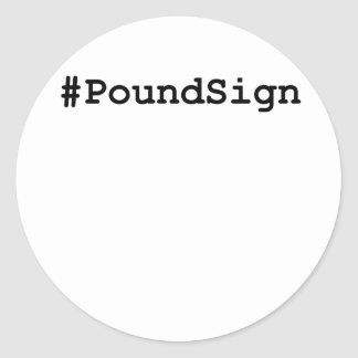 Hashtag Pound Sign Classic Round Sticker