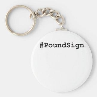 Hashtag Pound Sign Key Ring