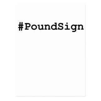 Hashtag Pound Sign Postcard