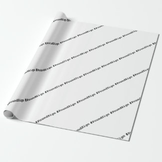 Hashtag Pound Sign Wrapping Paper