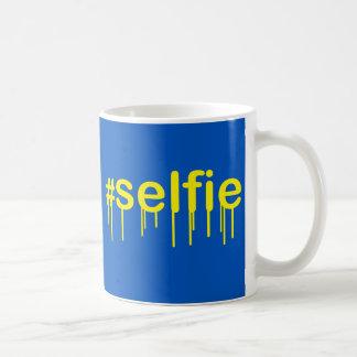 Hashtag Selfie Drooling Coffee Mug