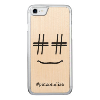 # Hashtag Smiley Face Social Media Carved iPhone 7 Case
