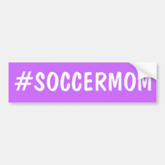 Hashtag Soccer Mom Bumper Sticker