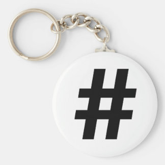 HASHTAG SYMBOL -.png Key Chains