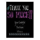 Hashtag Thank you Chalkboard Postcard