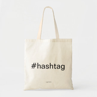 #hashtag tote bag