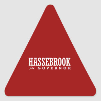HASSEBROOK FOR GOVERNOR 2014 TRIANGLE STICKER