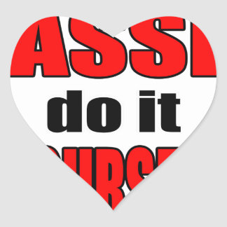 HASSLE doityourself annoying work boss task skippi Heart Sticker