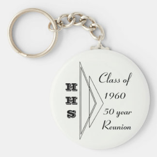 Hastings class of 1960 50 year reunion basic round button key ring