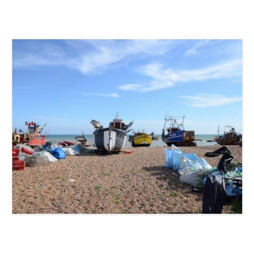 Hastings Fishing Boats Post Card