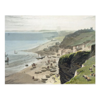 Hastings, from the East Cliff, from 'A Voyage Arou Postcard