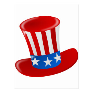 hat america uncle sam uncle sam hat postcard