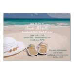 Hat and Beach Shoes Bachelorette Party Invitation