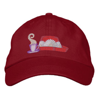 Hat and Coffee Embroidered Baseball Caps