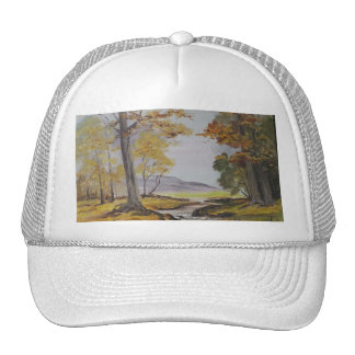 Hat Ann Hayes Painting Forest Stream