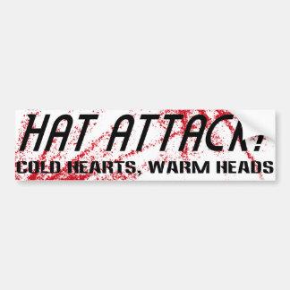 HAT ATTACK Sticker - cold hearts Bumper Sticker