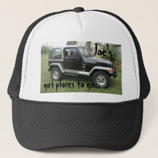 Hat Black and Gray Customized Jeep Cap