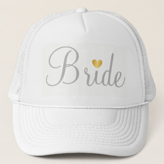 Hat -  Bride Heart Grey White