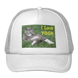 Hat Cat I Love Yoga