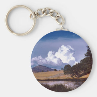 Hat Creek Basic Round Button Key Ring