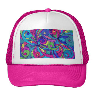 Hat Floral abstract background