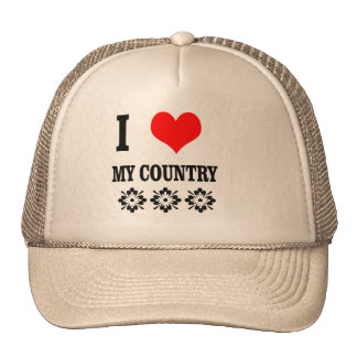 Hat+I love my country Cap