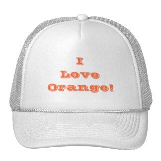 Hat I Love Orange