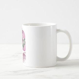 hat lady easter tea party card design basic white mug
